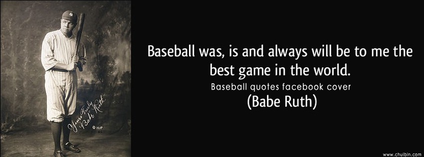 Baseball Quotes Facebook Cover Photo