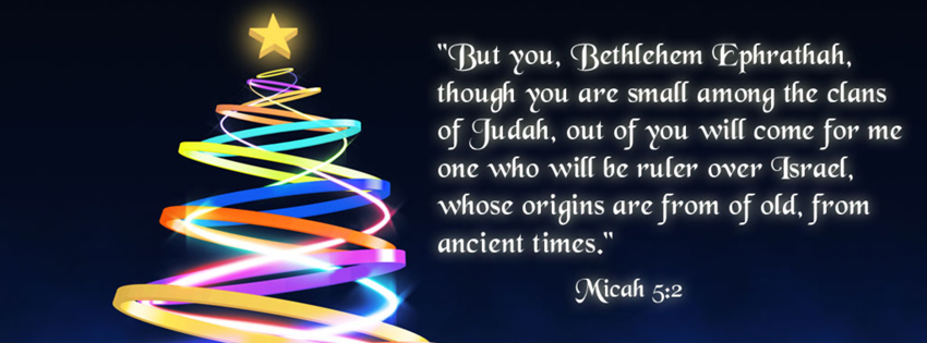 Delightful Christmas Bible Verse Facebook Cover Picture